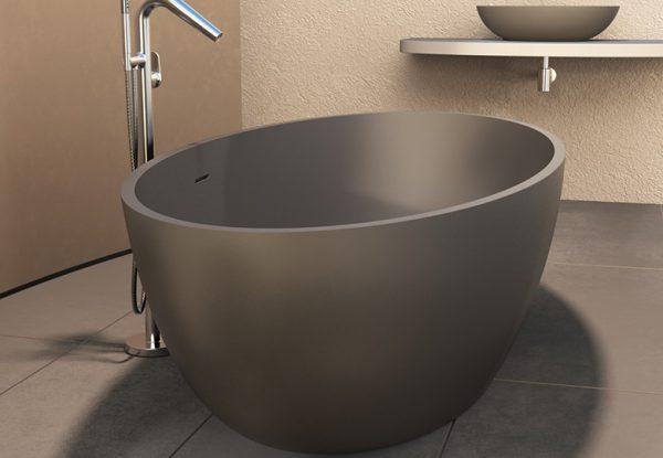 290190 solidellipse bath 1800 dark grey matt