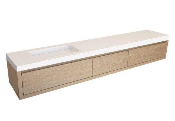 Livigno DB2W301 eikenhouten badkamermeubel